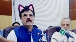 政治家がネコフィルターをつけたままで記者会見😸「閣僚にネコがいる」とネットの人気者に