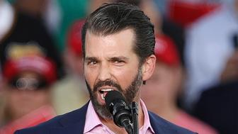 MONTOURSVILLE, PA - MAY 20: Donald Trump Jr. speaks during a 'Make America Great Again' campaign rally at Williamsport Regional Airport, May 20, 2019 in Montoursville, Pennsylvania. Trump is making a trip to the swing state to drum up Republican support on the eve of a special election in Pennsylvania's 12th congressional district, with Republican Fred Keller facing off against Democrat Marc Friedenberg. (Photo by Drew Angerer/Getty Images)