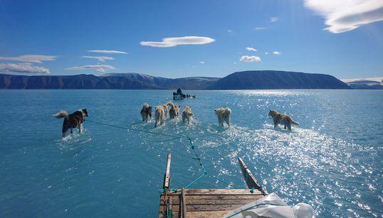 La impactante imagen que muestra el deshielo en el Polo