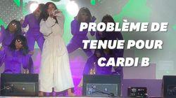 Cardi B finit un concert en peignoir après avoir déchiré sa