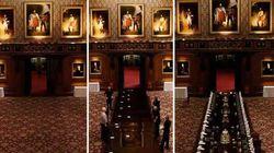 Questo video in timelapse mostra come si apparecchia la tavola reale nel castello di