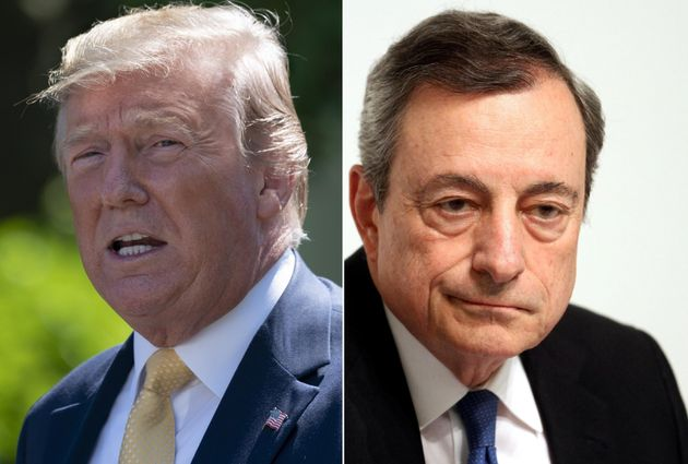 """Donald Trump contro Mario Draghi: """"Porta un vantaggio i"""