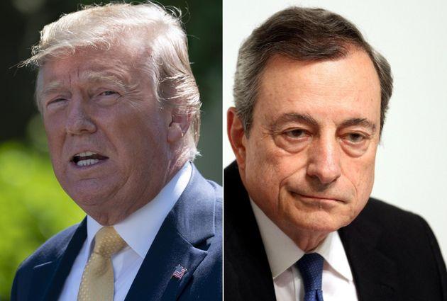 Donald Trump contro Mario Draghi: