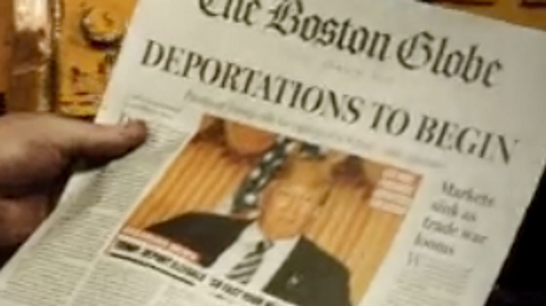 Boston Globe's Spoof 2016 Cover Imagining Trump Presidency Goes