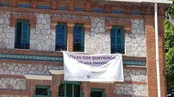 El nuevo Ayuntamiento de Madrid empieza a retirar las pancartas contra la violencia