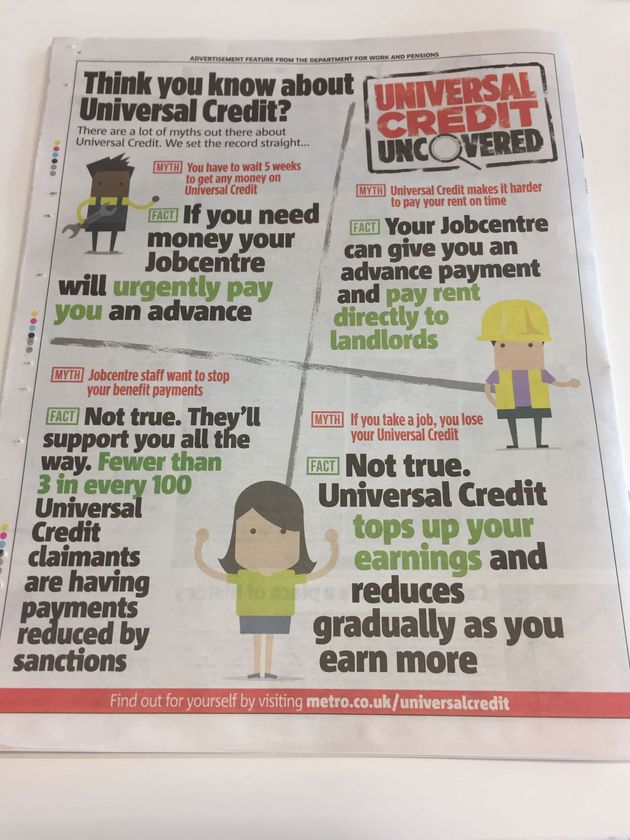 One of the first adverts in the DWP's Universal Credit campaign in the
