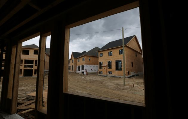 Houses under construction near the town of Kleinburg, Ont., May 13,