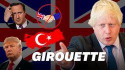 Quatre fois où Boris Johnson a retourné sa