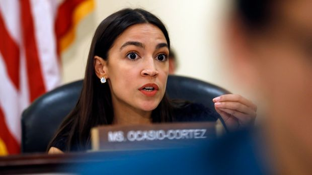 Rep. Alexandria Ocasio-Cortez, D-N.Y., questions FBI Assistant Director of the Counterterrorism Division Michael McGarrity, during a House Oversight and Reform Civil Rights and Civil Liberties subcommittee hearing on confronting white supremacy and the adequacy of the federal response, Tuesday June 4, 2019, on Capitol Hill in Washington. (AP Photo/Jacquelyn Martin)