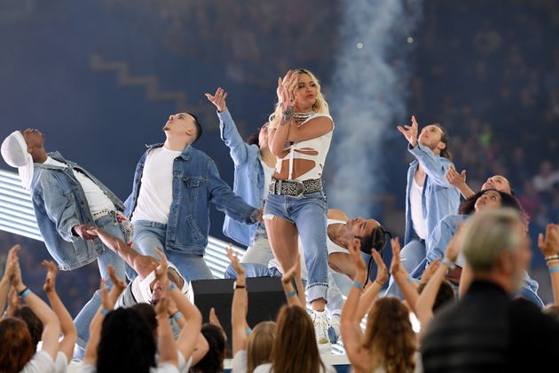 Rita Ora performs during Soccer Aid for UNICEF 2019 a