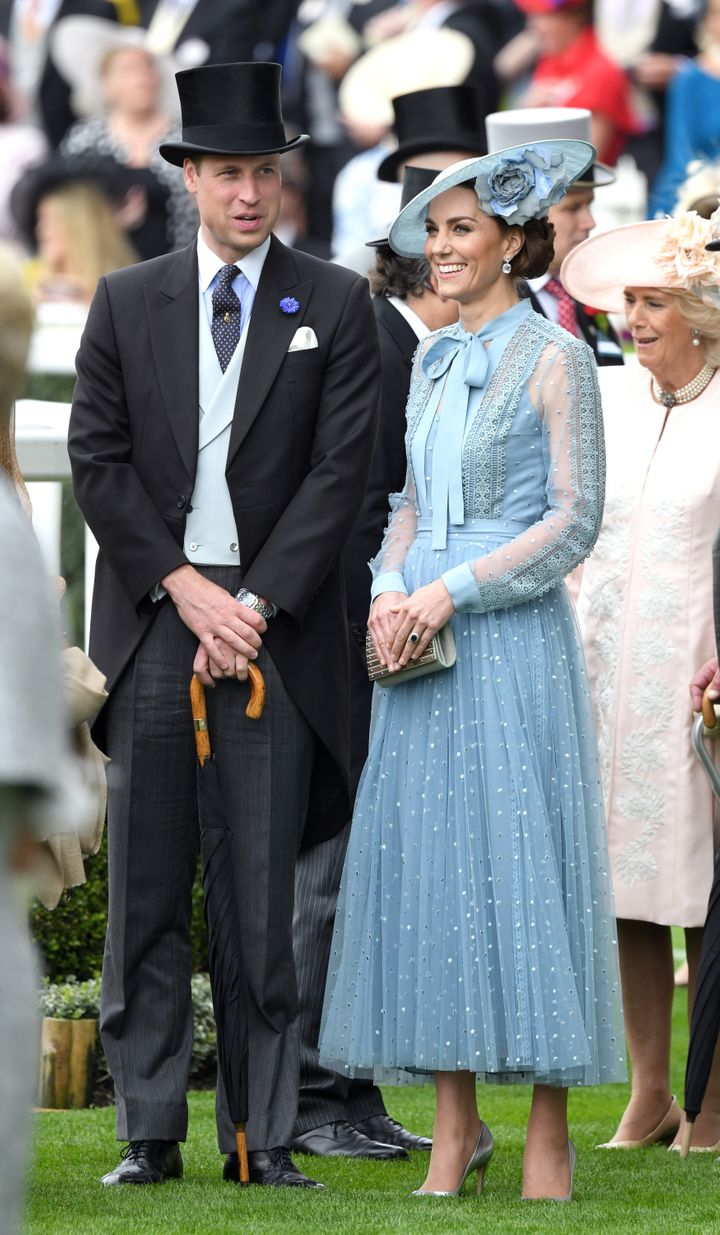 The Duke and Duchess of Cambridge attend day one of Royal Ascot at Ascot Racecourse on June 18 in Ascot, England.