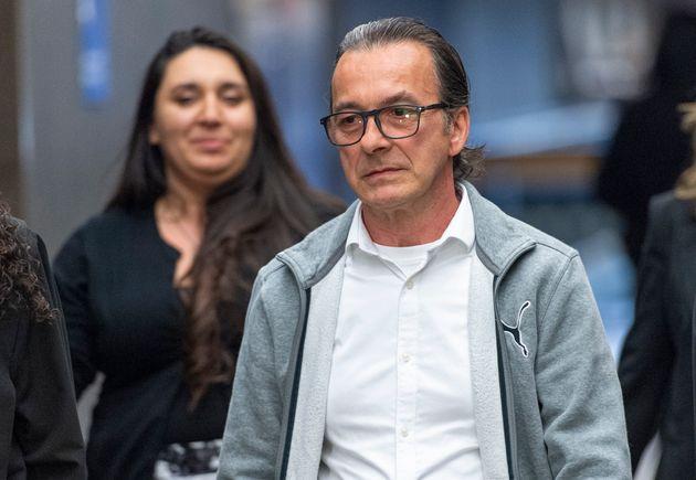 Michel Cadotte arrive au palais de justice le 28 mai 2019, pour la tenue de son