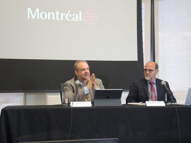 Benoit Dorais avec le directeur général de la Ville, Serge