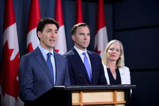 Prime Minister Justin Trudeau makes an announcement regarding the government's decision...