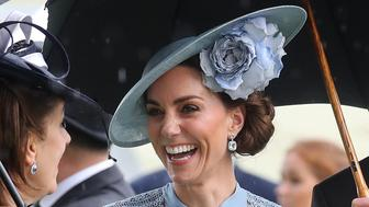 ASCOT, ENGLAND - JUNE 18:  Catherine, Duchess of Cambridge on day one of Royal Ascot at Ascot Racecourse on June 18, 2019 in Ascot, England. (Photo by Chris Jackson/Getty Images)