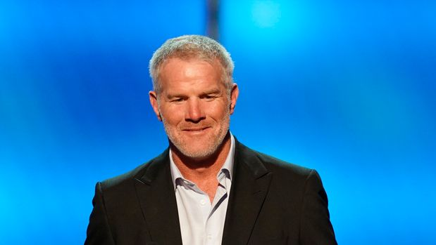 Former NFL player Brett Favre presents the moment of the year award at the 8th Annual NFL Honors at The Fox Theatre on Saturday, Feb. 2, 2019, in Atlanta. (Photo by Paul Abell/Invision for NFL/AP Images)