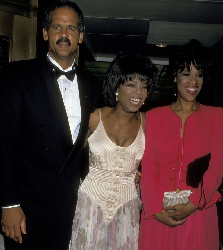 Stedman Graham, Oprah Winfrey and Gayle King at the Waldorf Astoria Hotel in New York City.