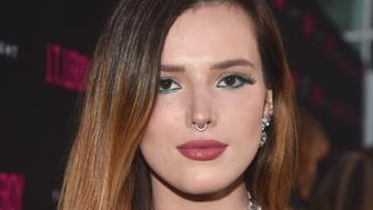 "HOLLYWOOD, CALIFORNIA - APRIL 24: Bella Thorne attends the LA premiere of Universal Pictures' ""J.T. Leroy"" at ArcLight Hollywood on April 24, 2019 in Hollywood, California. (Photo by Alberto E. Rodriguez/Getty Images)"