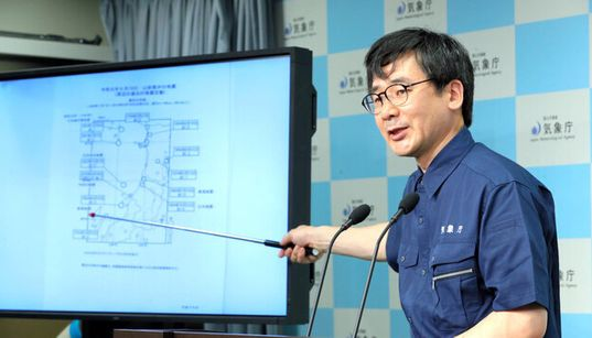 新潟で震度6強、気象庁が余震への警戒呼びかけ