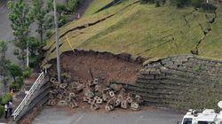 地震被害、ブロック塀崩壊や避難所の天井落下など。小中学校の休校も