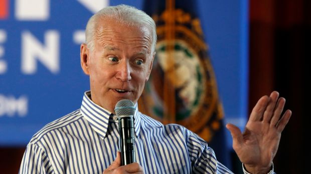 IN this June 4, 2019, photo, former vice president and Democratic presidential candidate Joe Biden speaks during a campaign event in Berlin, N.H. Tensions between Biden's Catholicism and the demands of the modern Democratic Party came into sharp relief with his sudden reversal on whether federal money should pay for abortion services. (AP Photo/Elise Amendola)