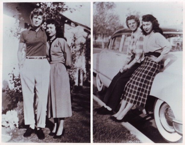 """Photographs of women, circa 1950s, as seen in """"Before Stonewall."""""""