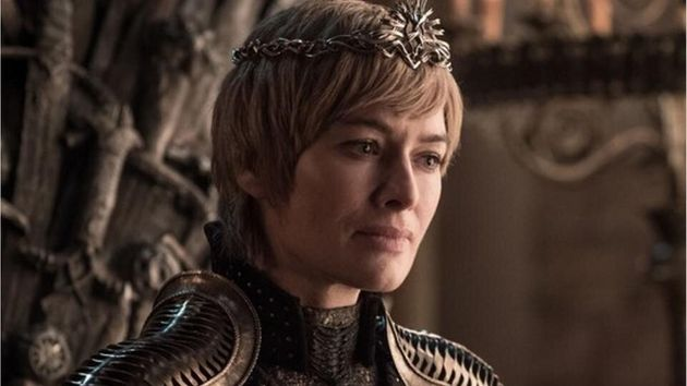 Lena in character as Cersei