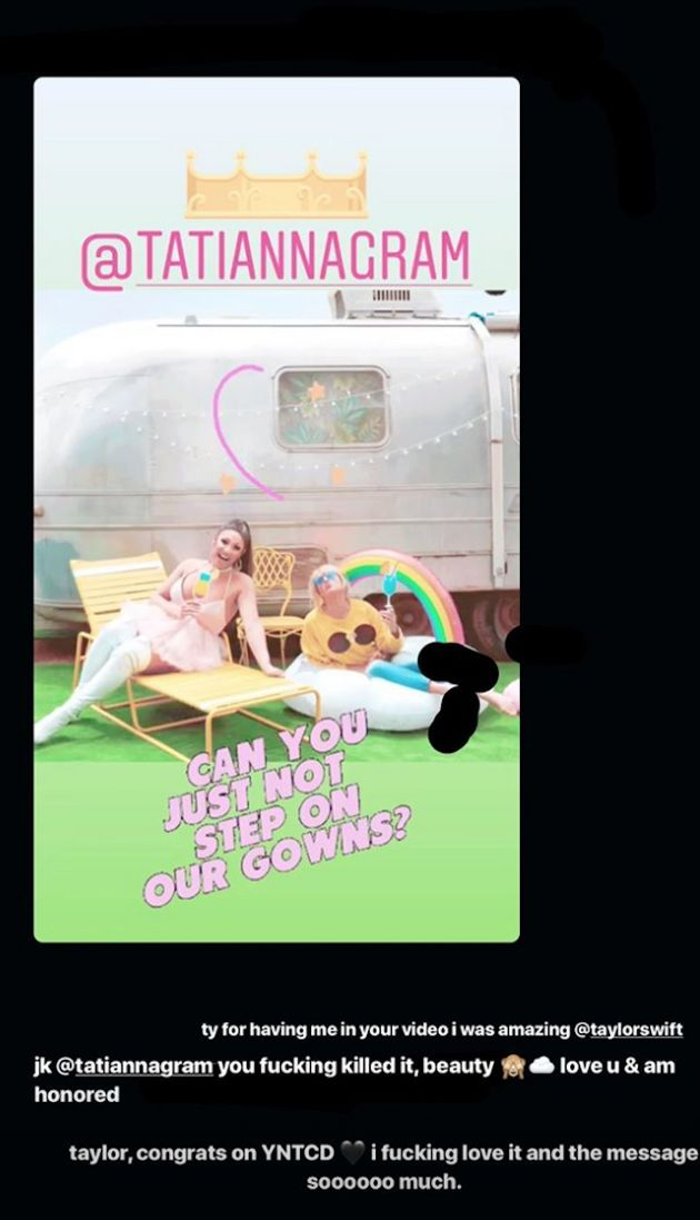 A screengrab of Ariana's Instagram