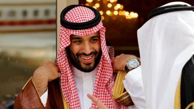 "FILE - In this May 14, 2012 file photo, Prince Mohammed bin Salman speaks with a Saudi prince in Riyadh, Saudi Arabia.  An independent U.N. human rights expert investigating the killing of Saudi journalist Jamal Khashoggi on Wednesday June 19, 2019, recommended an investigation into the possible role of Saudi Crown Prince Mohammed bin Salman, citing ""credible evidence."" (AP Photo/Hassan Ammar, File)"