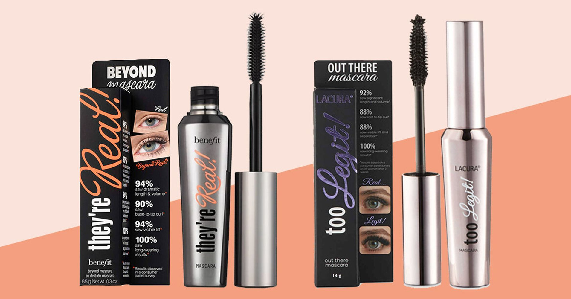 970d3c52d4a How Does Aldi's £6 'Too Legit' Dupe Compare To Benefit's £22 'They're Real'  Mascara?