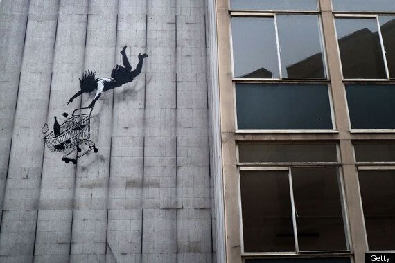 New Banksy Painting Appears In London's Canary