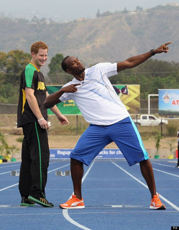 Prince Harry Takes On World's Fastest Man Usain Bolt In Jamaica.. Cheats.. And