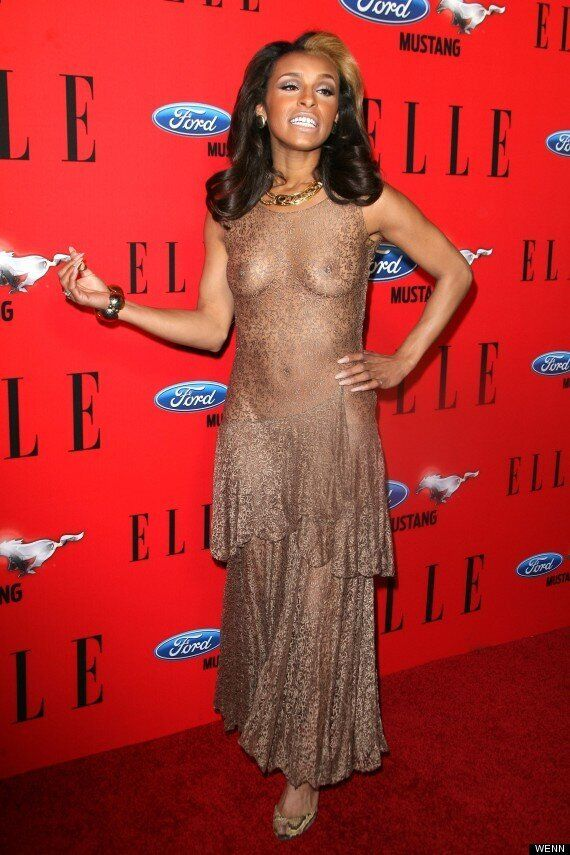 Melody Thornton Wears See Through Dress To 'Elle Women In Music'