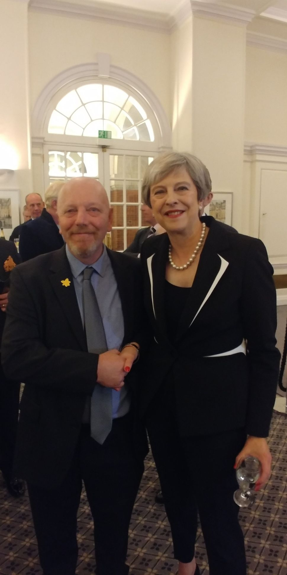 Mark has met prime minister Theresa May through his charity