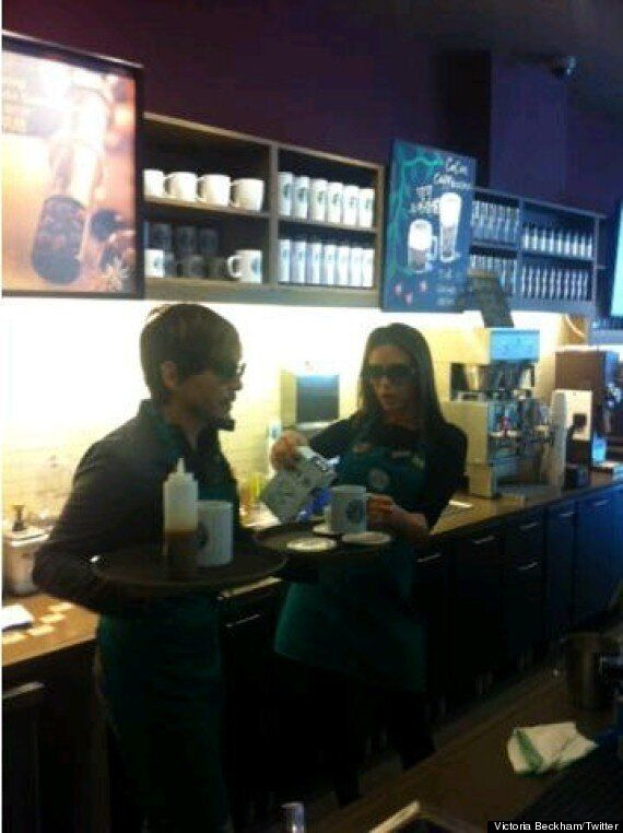 'Who Ordered The Frap?' Victoria Beckham Serves Coffee At Starbucks In