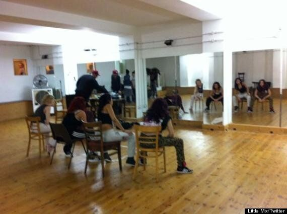Little Mix Rehearse For New Video
