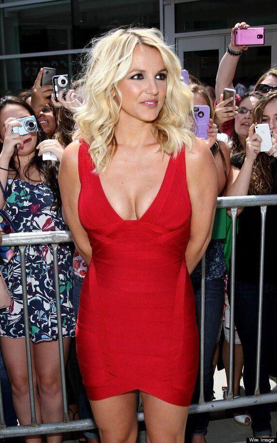 Hello Boys! Britney Wows In Cleavage-Busting Dress At 'X Factor USA'