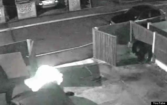 'Ghost' Wearing A Hoodie Filmed On CCTV Vaulting Over Car In Nottingham (PICTURE,
