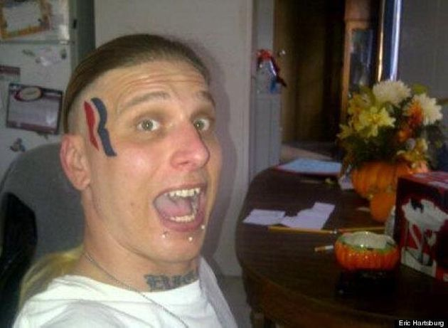 Romney Face Tattoo Guy Eric Hartsburg 'Totally Disappointed' That Obama