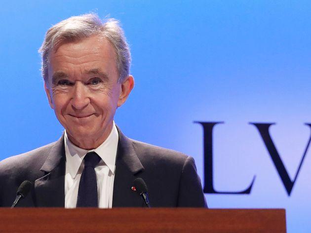 Bernard Arnault lors de la présentation des résultats du groupe LVMH en janvier 2019 à