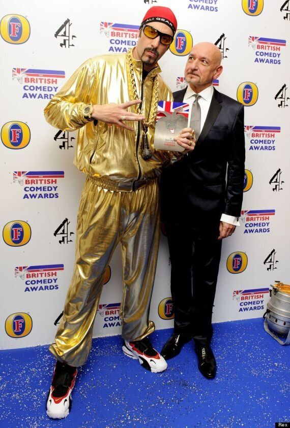 British Comedy Awards: Sacha Baron-Cohen Courts Controversy With 'Jimmy Savile' Tracksuit