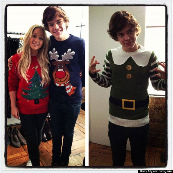 Harry Styles Is The Perfect Christmas Elf As He Dons Festive Jumper
