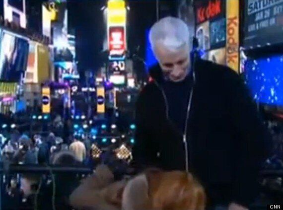Kathy Griffin Simulates Oral Sex On Anderson Cooper Live On Air During NYE