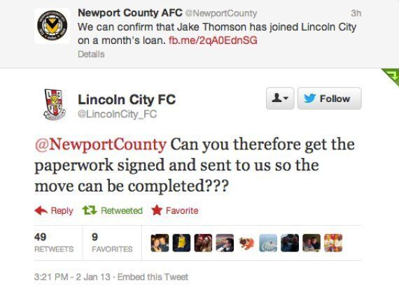 Newport County And Lincoln City Involved In Bizarre Twitter Transfer