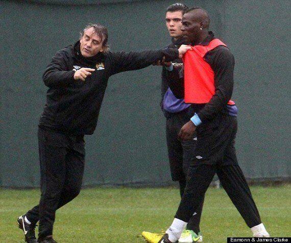 Mario Balotelli Squares Up To Roberto Mancini In Training Ground Bust-Up