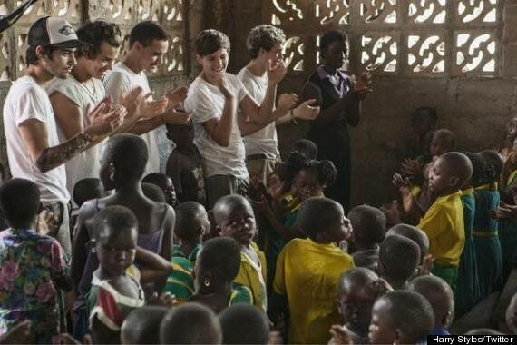 One Direction Preview Comic Relief Trip To Ghana