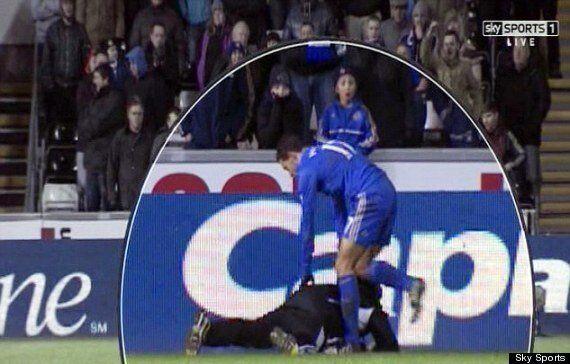 Eden Hazard Sent Off For Kicking Ball Boy Charlie Morgan