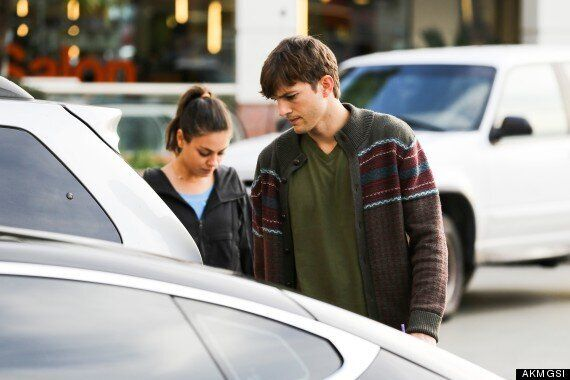 Ashton Kutcher And A Make-Up Free Mila Kunis Fail To Raise A Smile As They Head Out For Coffee In LA