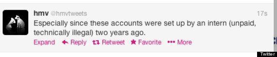 HMV Twitter Goes Rogue, Criticises Head Office For Firing 60