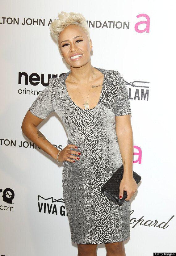 Emeli Sande Goes Make-Up Free After Performing At Elton John's Oscars Party